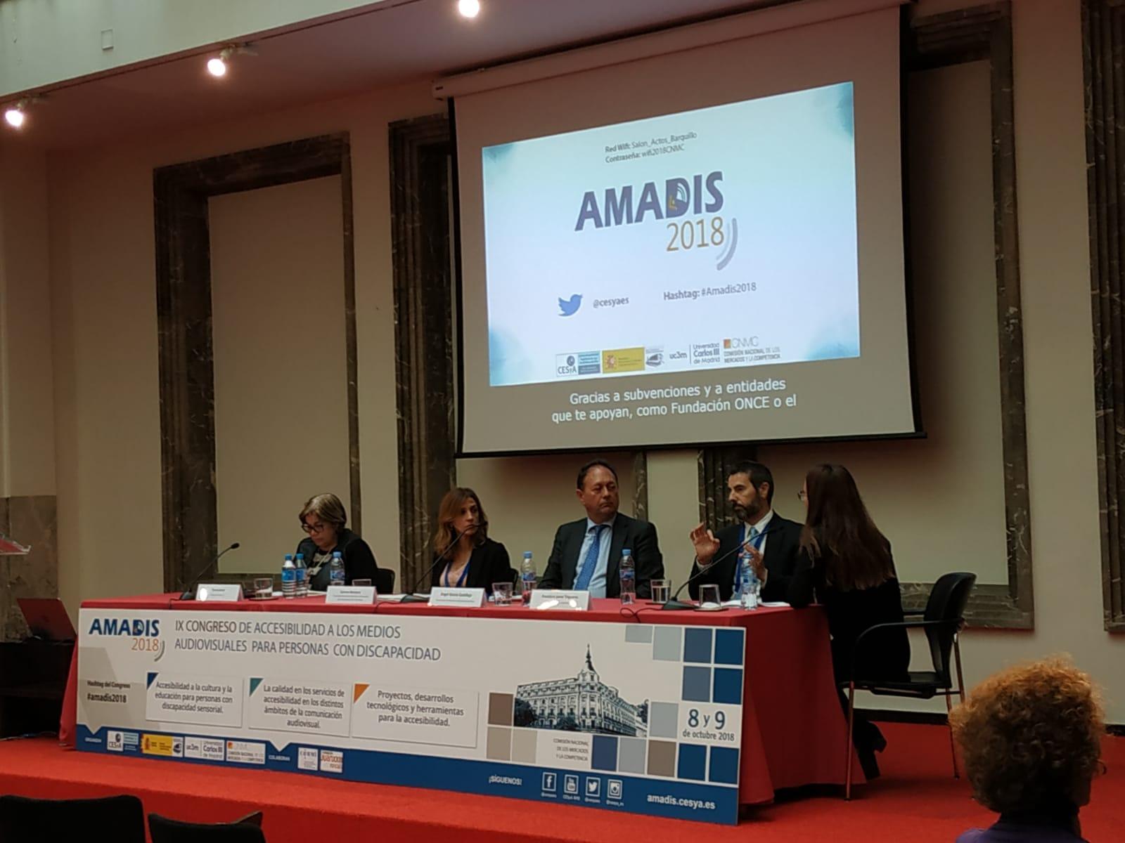 Resultado de imagen de IX Congreso de Accesibilidad a los Medios Audiovisuales para Personas con Discapacidad (AMADIS)